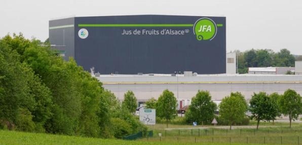 Extension de lusine de production Jus de Fruits dAlsace de Sarre Union