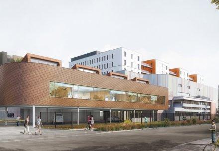 Extension du Centre de Dialyse Strasbourg Hautepierre 67 18210 440x305