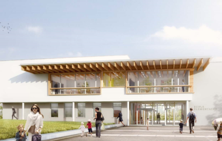 Extension et reamenagement du groupe scolaire du Point du Jour de Cergy Pontoise 440x280