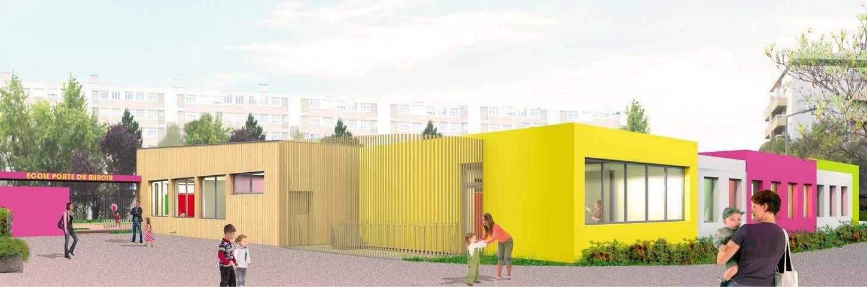 Rehabilitation et extension de l'Ecole Porte du Miroir