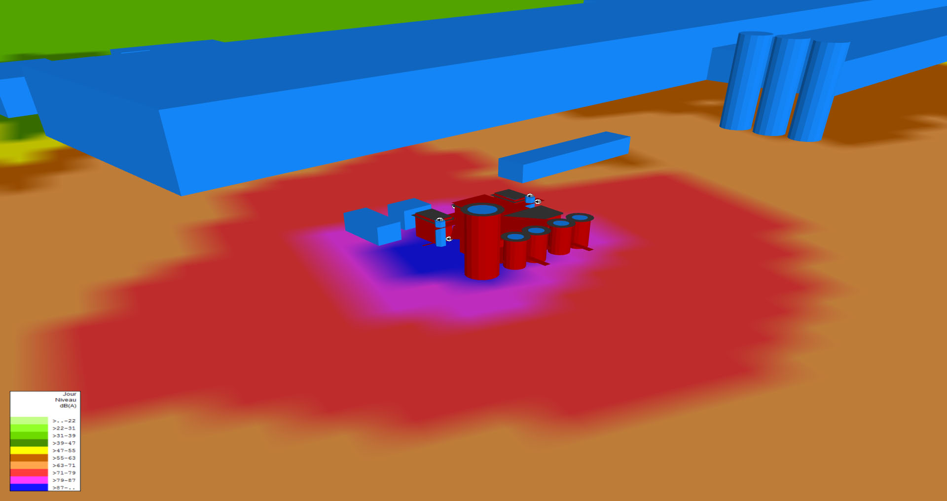 modelisation impact sonore industriel